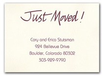 Change of Address Cards send to friends, family, business contacts, etc.