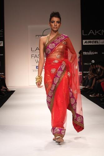 Red & Purple Sari