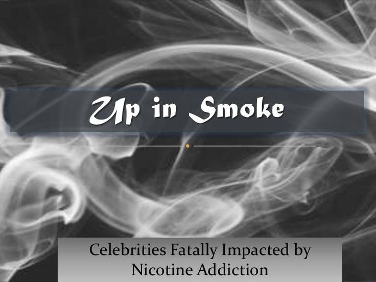 Tobacco Deaths - Celebrities Fatally Impacted by Nicotine Addiction. See for yourself. It is not very glamourous.  If you are ready to stop smoking, and put down nicotine for good, consider residential rehab for your nicotine addiction. Serenity Vista private pay holistic addiction treatment Click here: https://www.serenityvista.com