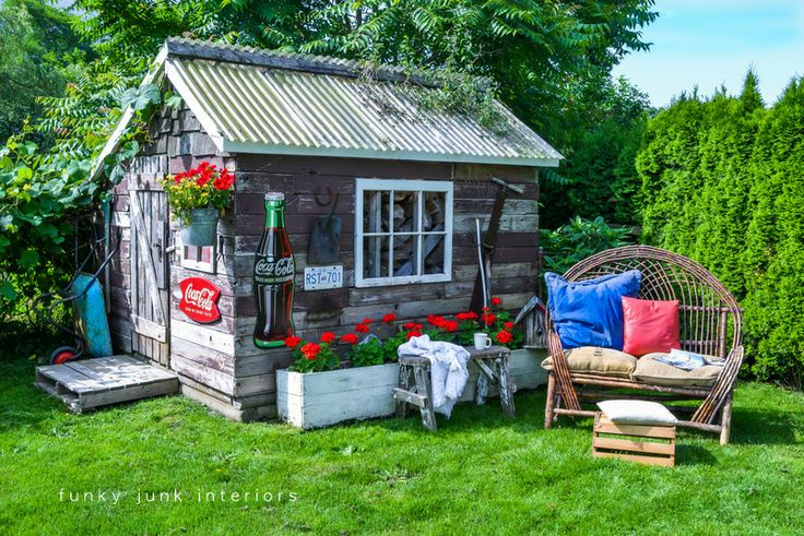 Funky Junk Interiors: 15 super creative outdoor sitting areas - and how to make your own!