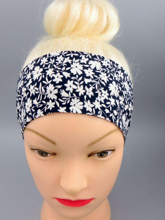 Floral Dolly Bow Headband Retro Floral Hair Scarf Headband
