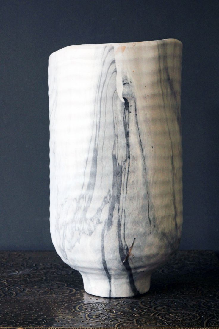 Marble Effect Serenity Vase - Vases - Home Accessories