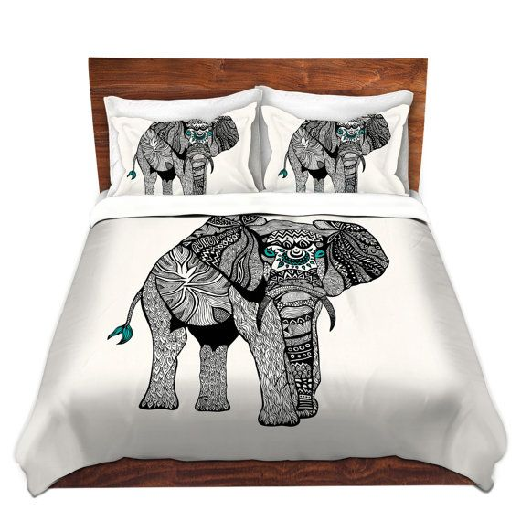One Tribal Elephant Bed Duvet Cover – For Twin, Queen and King Size Beds