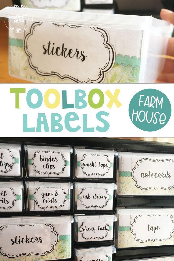 Farmhouse Teacher Toolbox Labels Editable Teacher Toolbox Labels Teacher Toolbox Labels Editable Teacher Toolbox