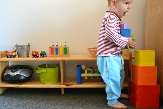 Toys, materials, shelves and rotation at 17 months - how we montessori