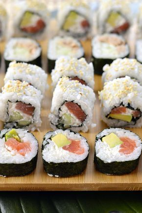 Homemade Sushi Uramaki E Futomaki Homemade Sushi Cucina And