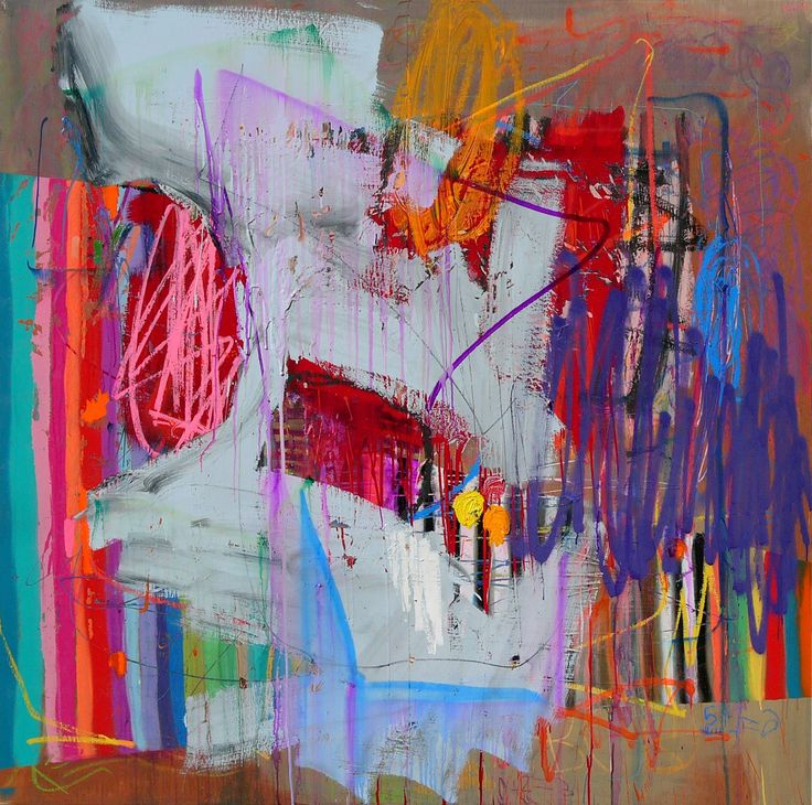 Rad! Abstract Art by Barriopop CANDEart_untitled 14_2014_multimedia painting on panel_60x60inches #candeart #barriopop #contemporaryart #rgv