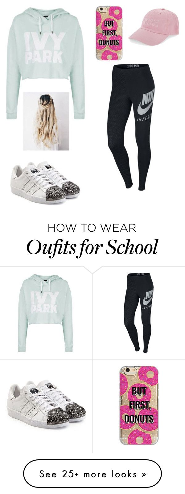 """""""I donut want to go to school"""" by fashionista5530 on Polyvore featuring Topshop, Nasaseasons, NIKE, Agent 18 and adidas Originals"""