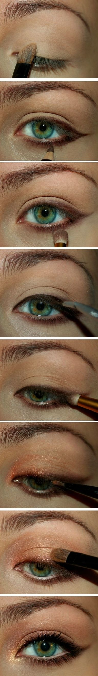 Peach smokey eye ~ Very pretty might have to try, but first need somewhere to go!!!