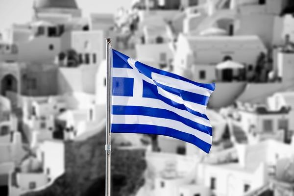 !!!Greek Flag!!!!Blue and white!!!  Symbolizing the colors of the famed Greek blue sky and sea combined with the white clouds and waves.
