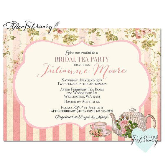23 best images about Tea party ideas on Pinterest Vintage tea - tea party invitation