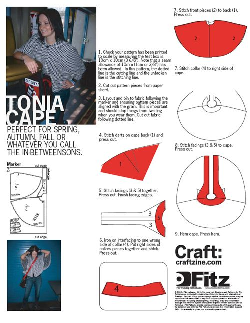 FREE Cape Sewing Pattern and Tutorial