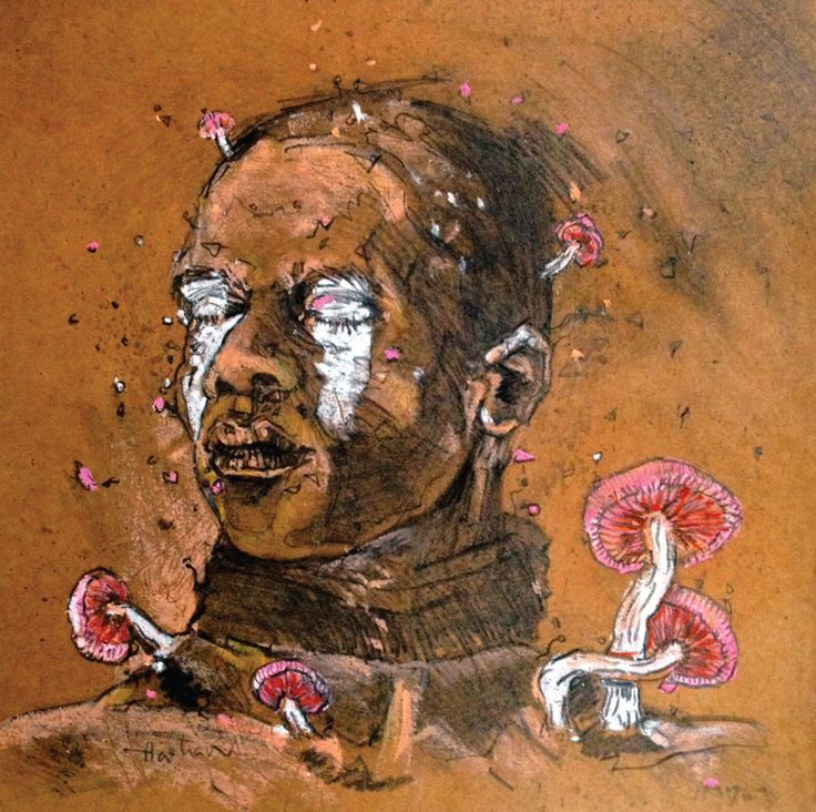 HASHAN COORAY -EXPIRED FREEDOM, 2016,Mixed media on paper, 25x25cm