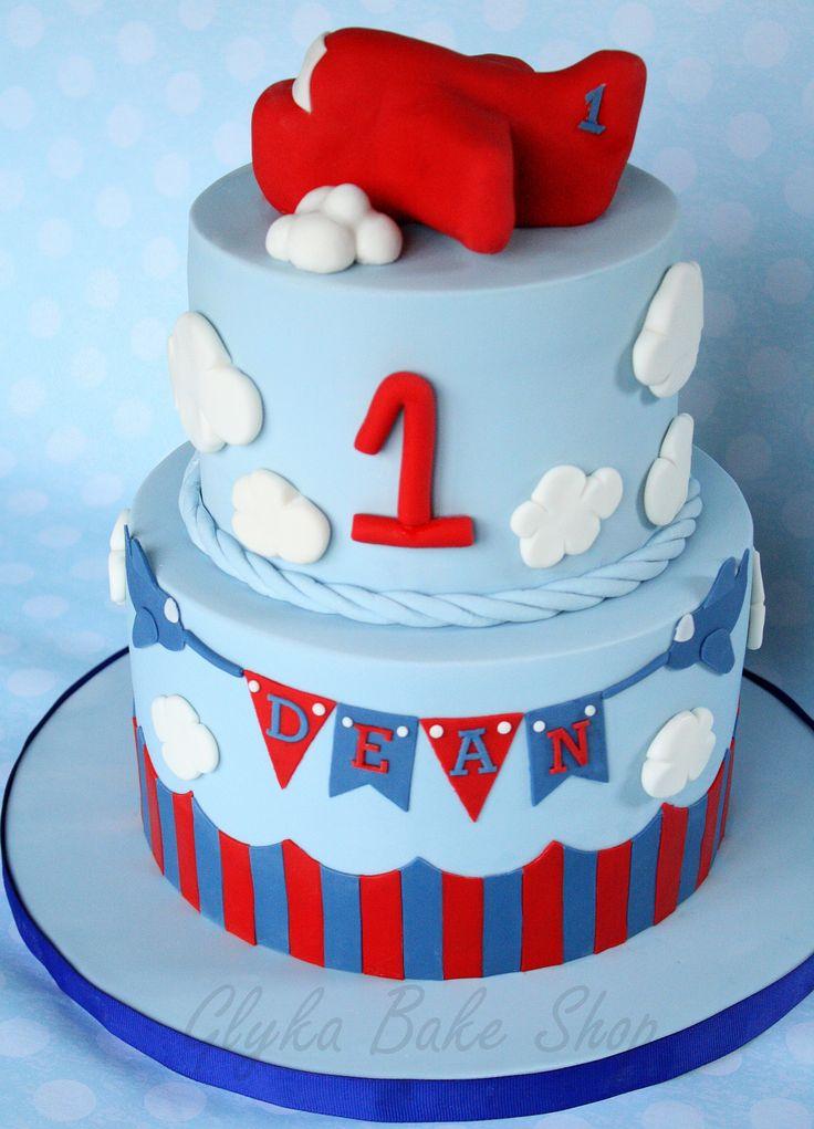 First Birthday Airplane Cake Rice Krispies Treats