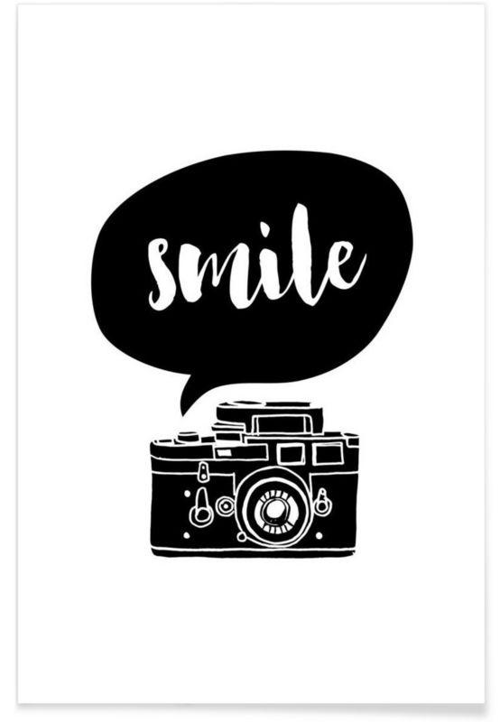 Smile als Premium Poster von THE MOTIVATED TYPE | JUNIQE