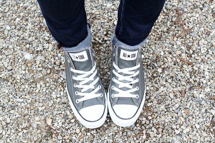 converse pelle scarpe