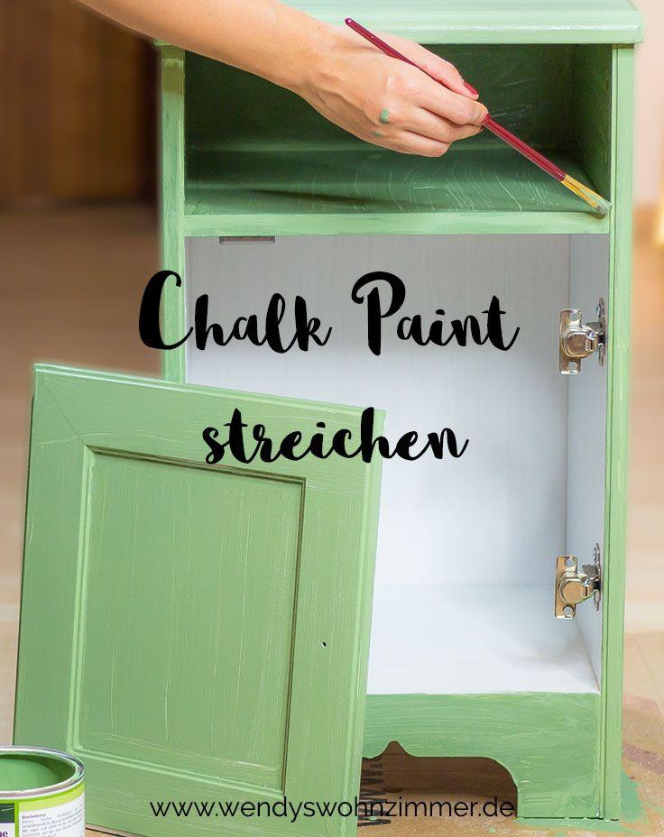 Möbel mit Kreidefarbe streichen - Anleitung