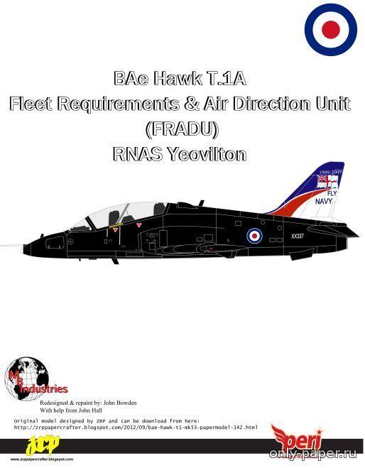 M1:???, BAE Hawk T1A FRADU [Переработка Peri Paperhobby