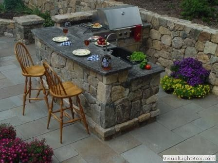 Stone Outdoor Kitchens in New Jersey - Grilling Stations & Bars, Dining Patio | Landscaping Annandale, NJ