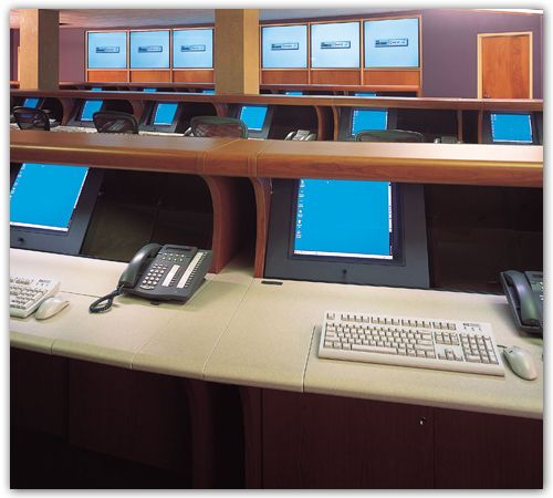Telecom Operations Consoles  with Rear Projection