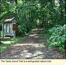 The Yanty Scout Trail in Hamlin Beach State Park in the Finger Lakes is a self-guided nature trail.