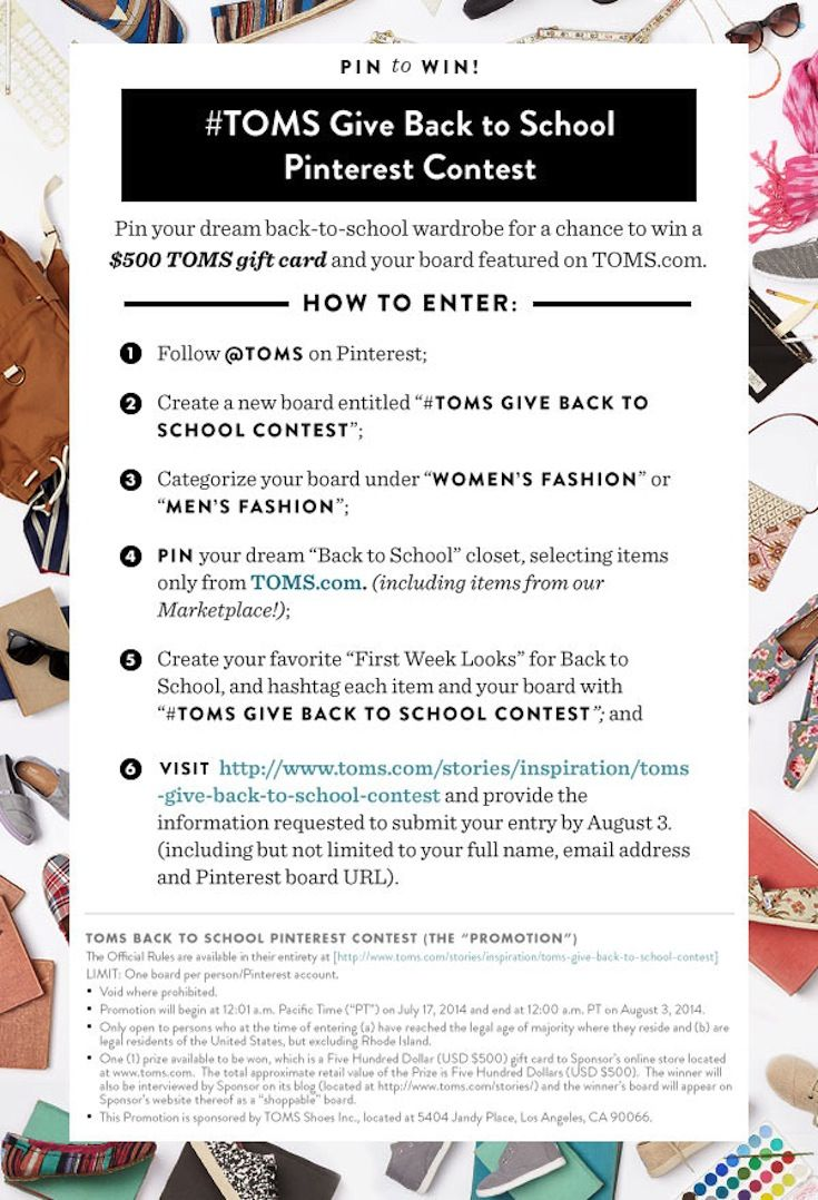 52 best #Toms Give Back to School Contest images on Pinterest ...