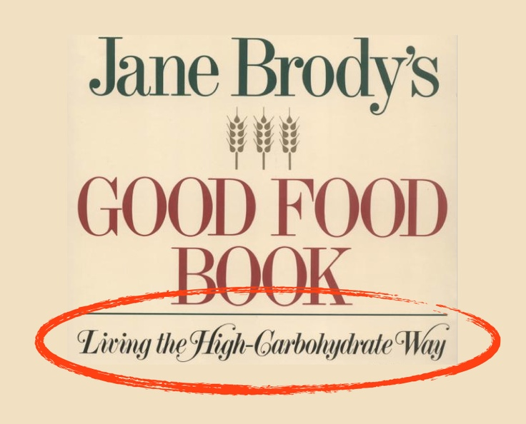 "Amazing! How can Jane Brody still be writing on health for the New York Times??? To start the new year, she AGAIN gets it all wrong: http://j.mp/WtPfB8 Then again, who'd be surprised - she is the author of a book promoting ""Living the High-Carbohydrate Way""...."