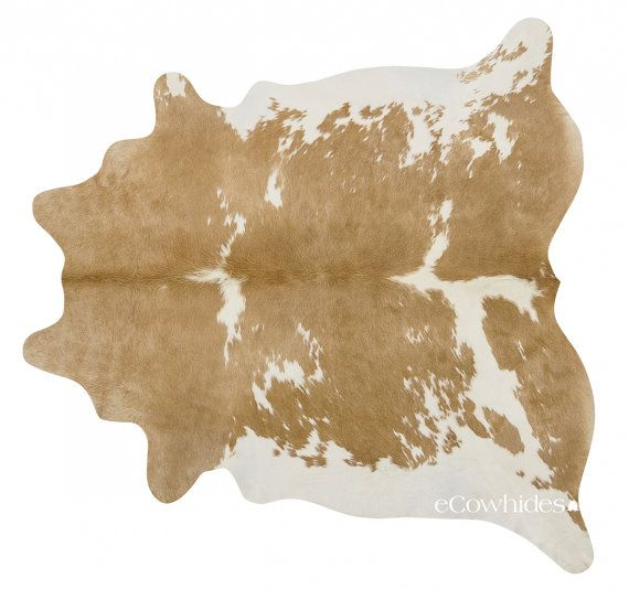 Palomino and White Brazilian Cowhide Rug Cow Hide by eCowhides