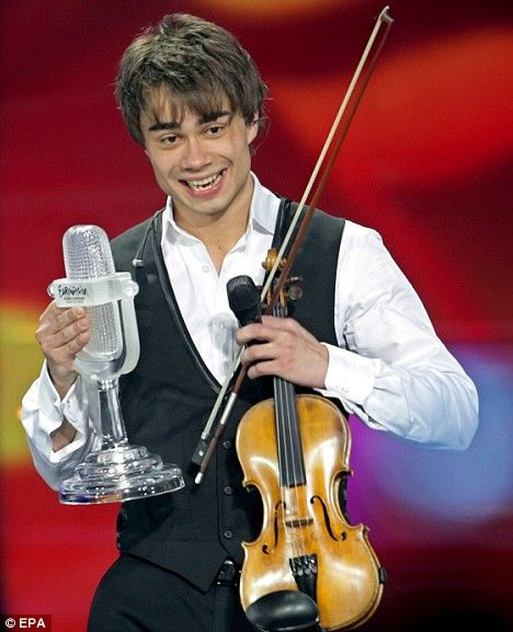 Alexander Rybak, violinist who resides in Norway. EU Top Talent.