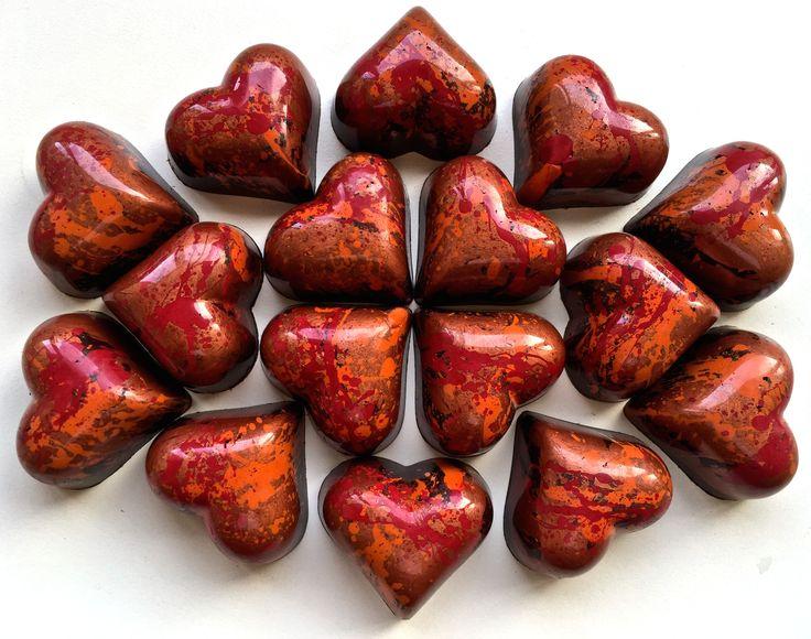 Copper Splash Hearts www.alicebentleychocolates.com