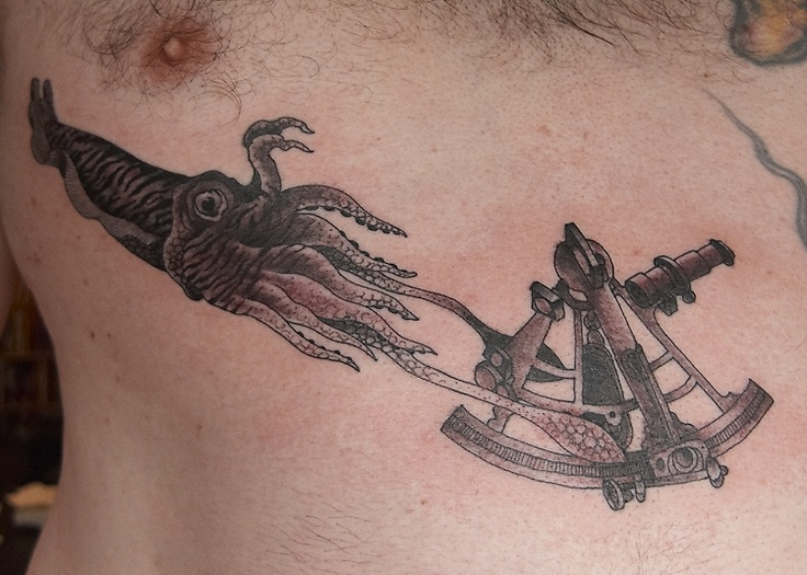 sextant giant squid tattoo tattoo pinterest squid tattoo giant squid and tattoos and. Black Bedroom Furniture Sets. Home Design Ideas