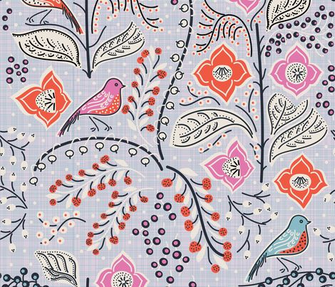 Hello, Pettirosso fabric by serena_bellini on Spoonflower - custom fabric