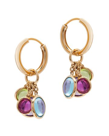 'Mischief' 6 & 8MM Disc Charm Earrings with Hoops in 18K yellow gold from the Mischief Collection