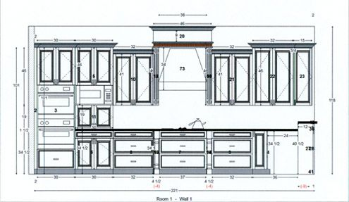 Kitchen Cabinet Design Drawing | 图纸设计 | Kitchen cabinet design ...