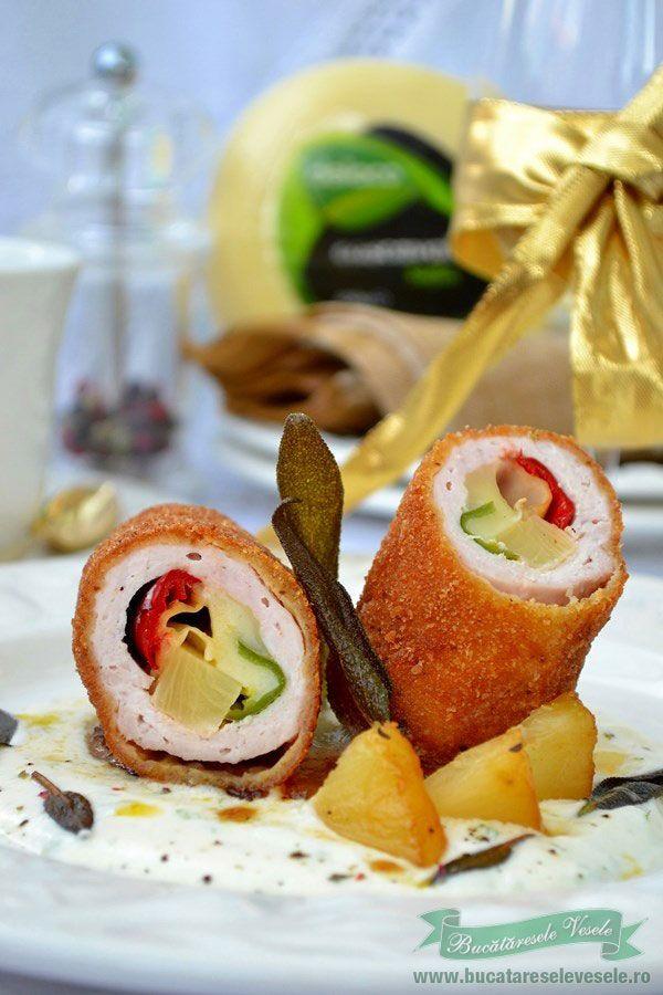 Preparare Rulouri din cotlet.Reteta rulouri cotlet de porc.Preparare cotlet.Reteta festiva din cotlet.Reteta festiva, Rulouri Cubaneze.