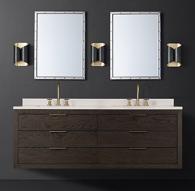 Machinto Double Floating Vanity With Stainless Hardware