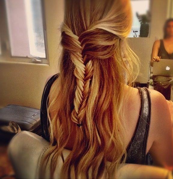 Fishtail Half Up Half Down Beauty Bar Hair Hair