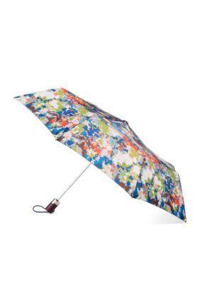 Totes Men's Fashion Automatic Umbrella - Shadow Lea - One Size