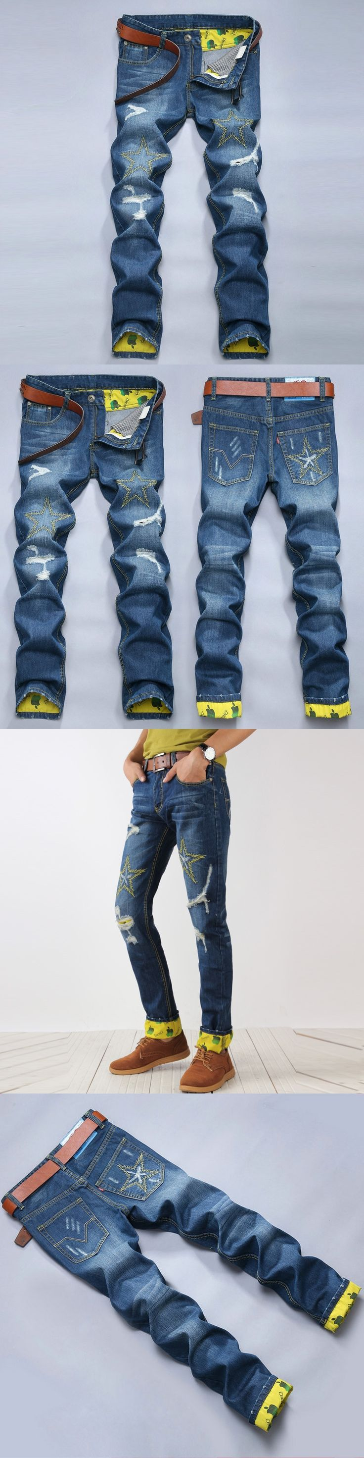 motorcycle jeans men cargo pocket jeans hole wash water male ripped jeans pantalon vaquero hombre fake designer clothes