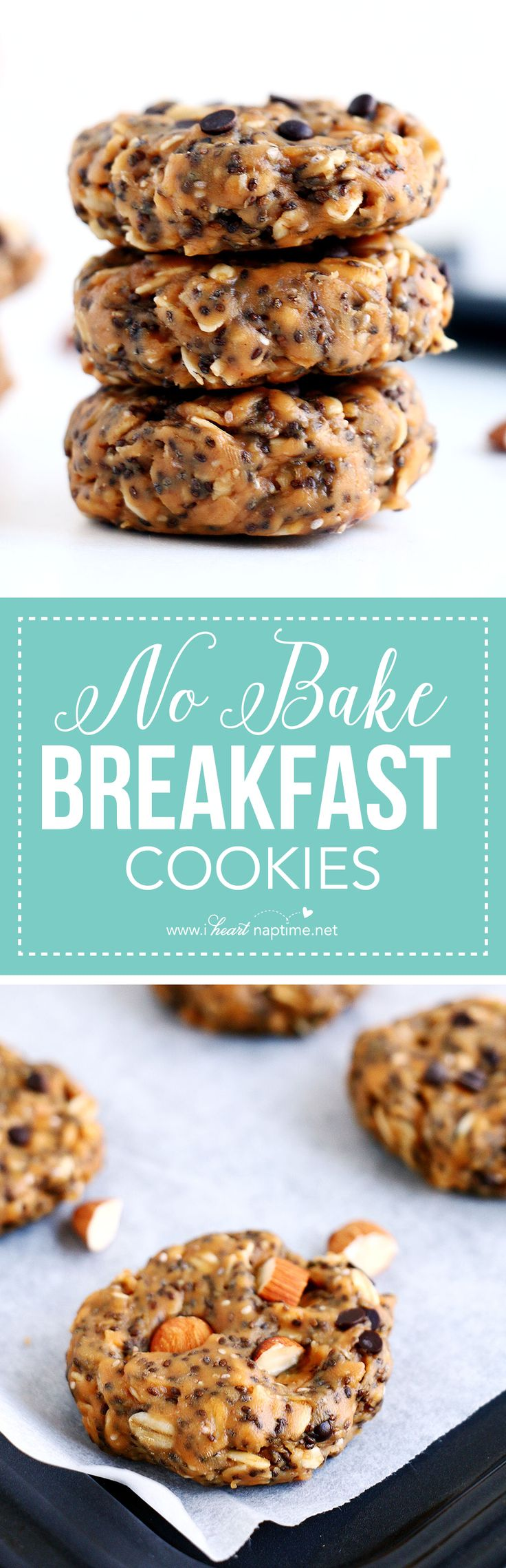 These No Bake Breakfast Cookies are easy to make, healthy, packed with protein, and simply delicious. They can be whipped up in less than 5 minutes!