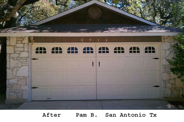 Garage door window decal faux carriage by kenbuttsenterprises 70 00