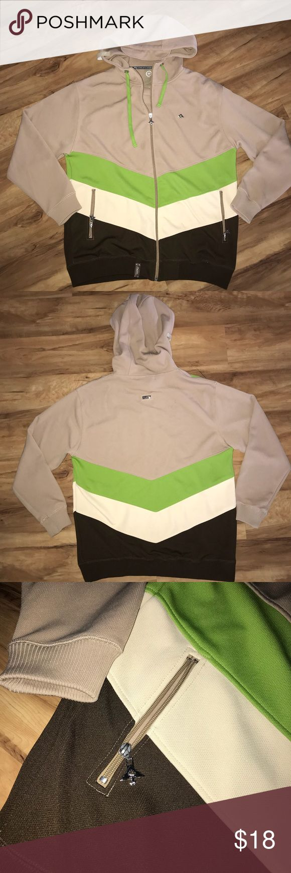 MENS Root's people Full Zip Up Hoodie, XL In excellent condition, worn a few times.  No signs of wear or tear.  Size: XL Colors: tan, apple green, brown and cream white Sweaters Zip Up