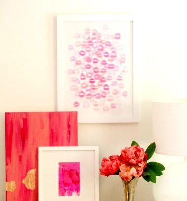 DIY Kiss art - fun Valentine's day craft // Csók festmény - (Valentin napi) romantikus kép egyszerűen // Mindy - craft tutorial collection // #crafts #DIY #craftTutorial #tutorial