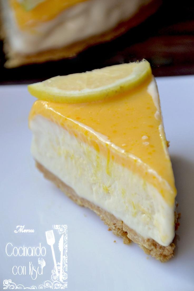 Tarta helado de limón  http://cocinandoconkisa.blogspot.com.es/2013/03/tarta-helada-de-limon-thermomix.html
