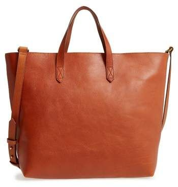 6e14f497e Madewell Zip Top Transport Leather Carryall | Travel In Style ...