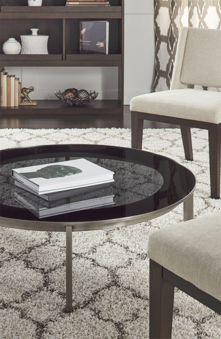 Slim round end table modern accent table with drawer calvin end table - Calvin Klein Cove Coffee Table By Calvin Klein