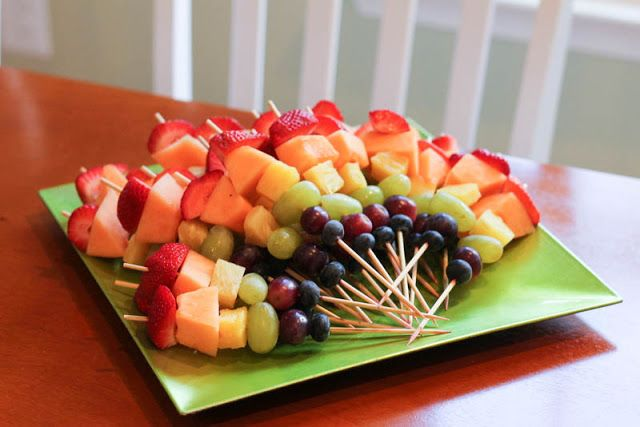 Tropical Fruit Platter For A Beach Wedding