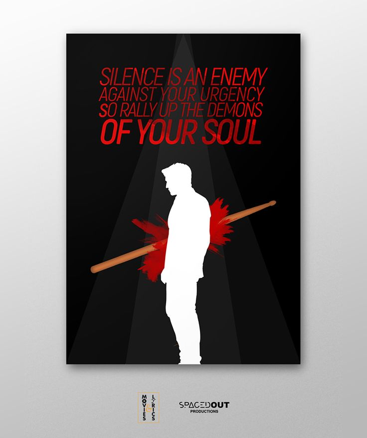 Terence Fletcher: There are no two words in the English language more harmful than 'good job'.  - Terrence Fletcher (J. K. Simmons)  Movie: Whiplash  Director: Damien Chazelle  Lyrics: Know Your Enemy  Artist: Green Day  #MoviesAndLyrics  #Poster #Minimal #Music #Movies #GreenDay #Whiplash #Oscar