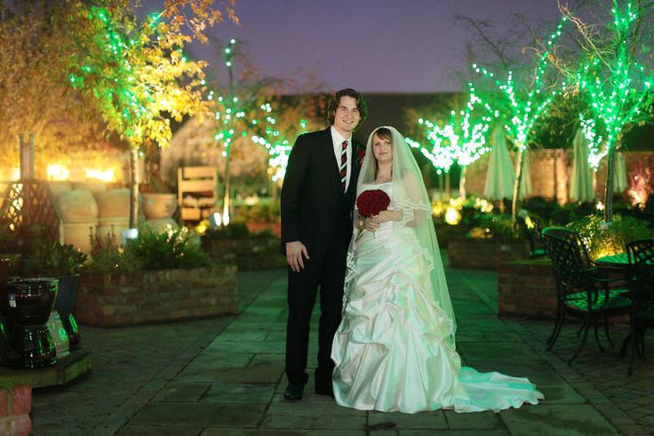 After dark wedding photograph at The Barnyard