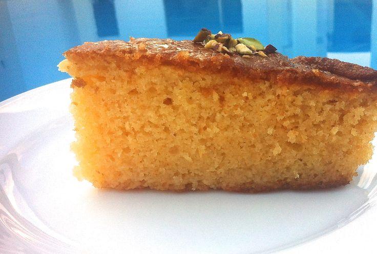 Greek Ravani : Revani recipe (Coconut cake with syrup)-2